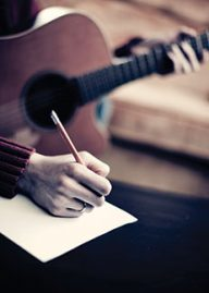 writing with guitar